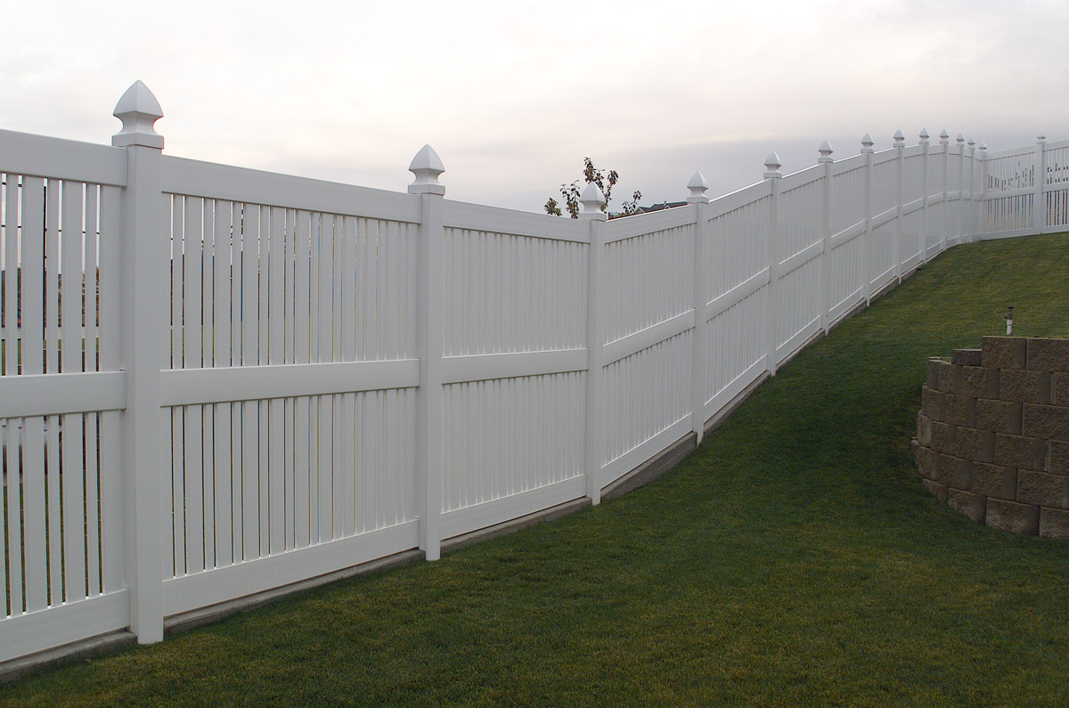 Semi privacy fence fencing installation in loveland